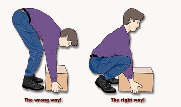 cara mengangkat beban pada penderita low back pain  nyeri punggung bawah