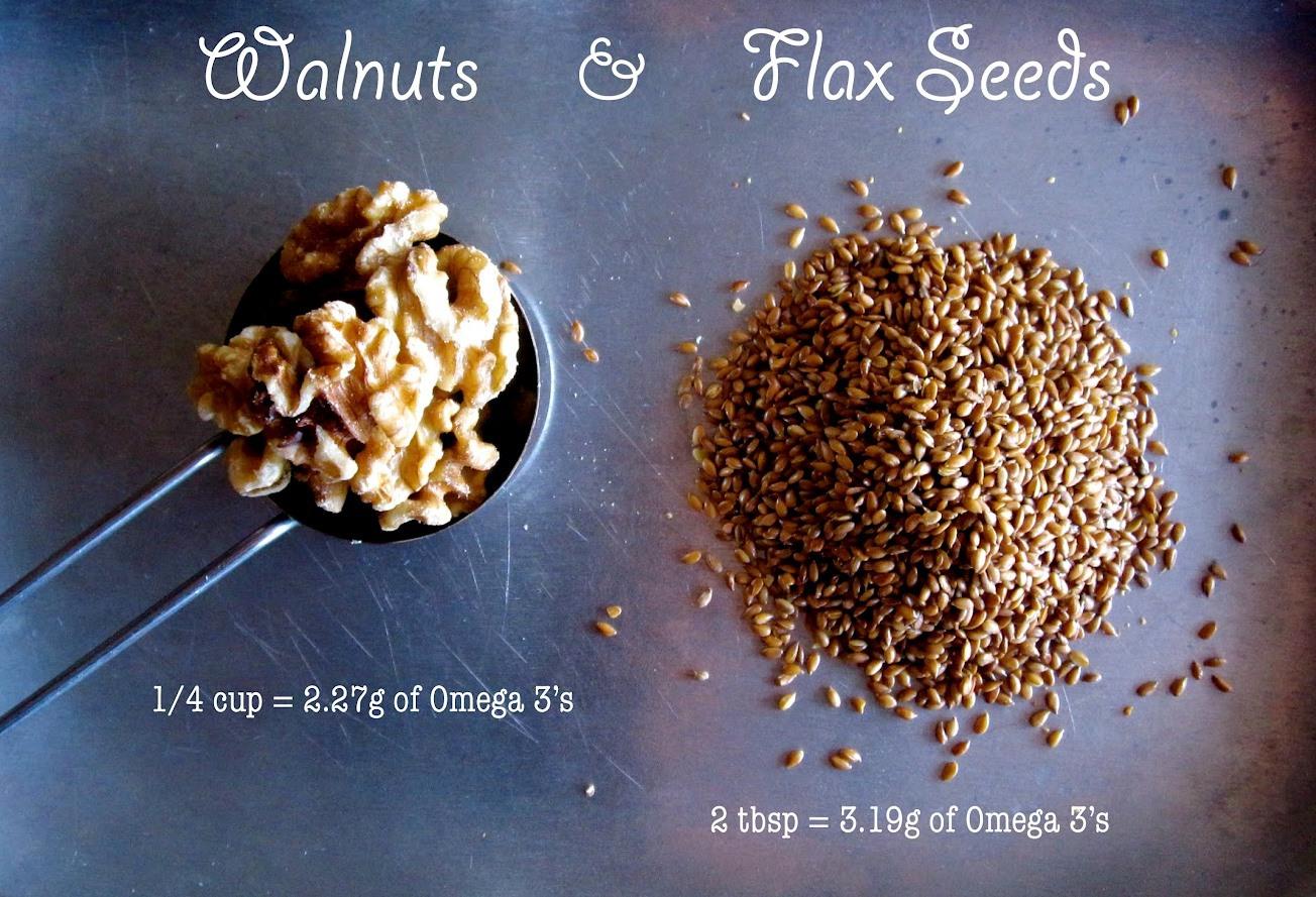 walnut and flaxseed
