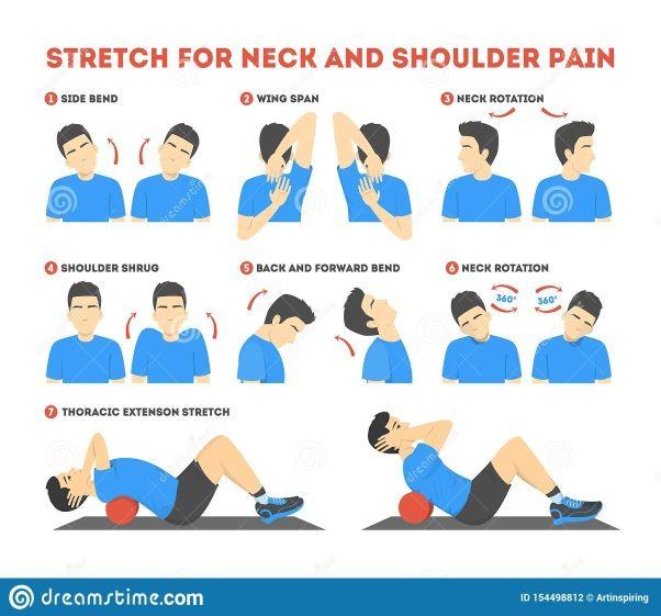 latihan peregangan leher dan bahu