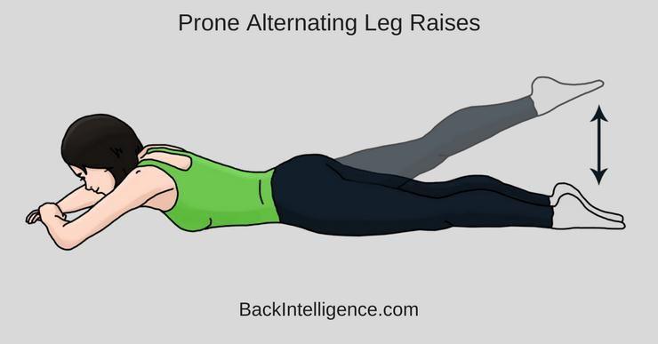 posisi prone alternating leg raises