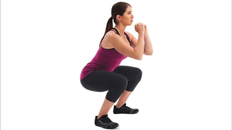 squat position